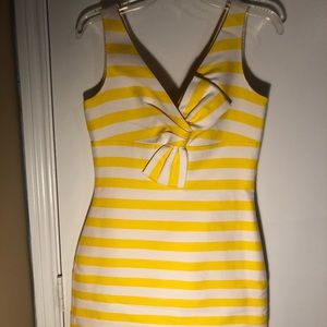 Kate Spade Yellow & White Dress